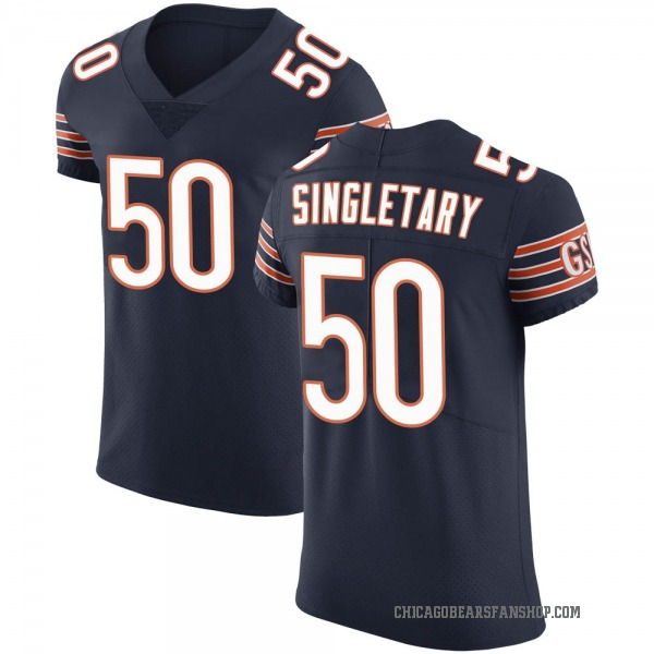 Mike Singletary Chicago Bears Elite Navy Team Color Vapor Untouchable Jersey