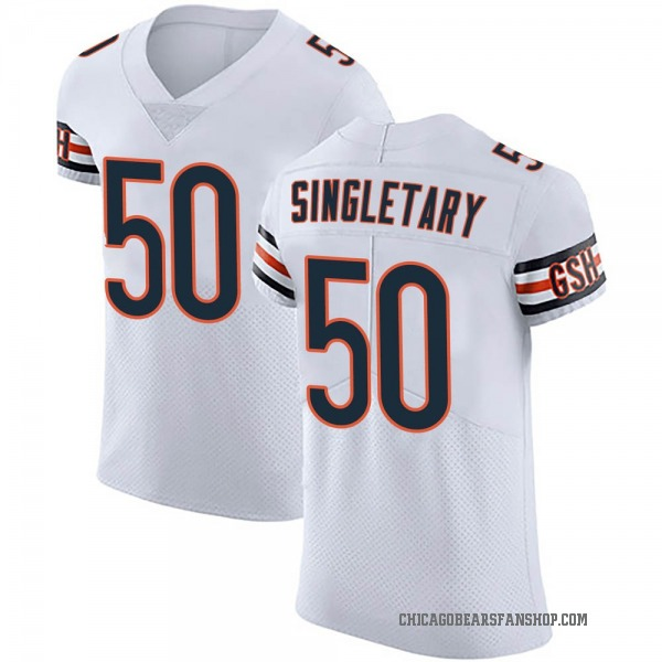 Mike Singletary Chicago Bears Elite White Vapor Untouchable Jersey