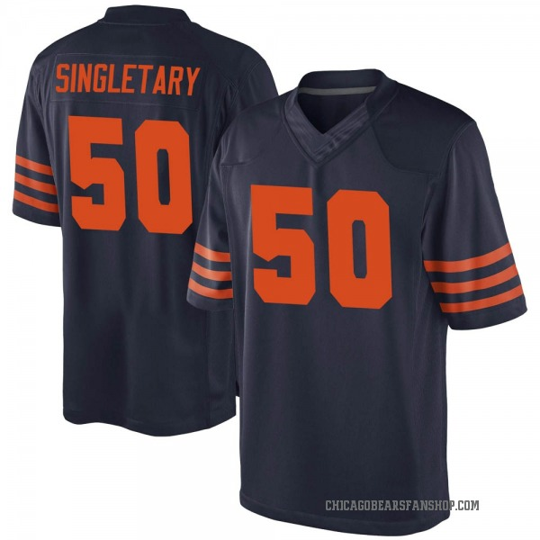 Mike Singletary Chicago Bears Game Navy Blue Alternate Jersey