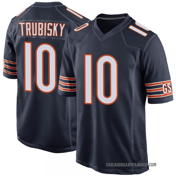 Mitchell Trubisky Chicago Bears Game Navy Team Color Jersey