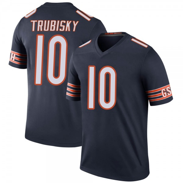 Mitchell Trubisky Chicago Bears Legend Navy Color Rush Jersey