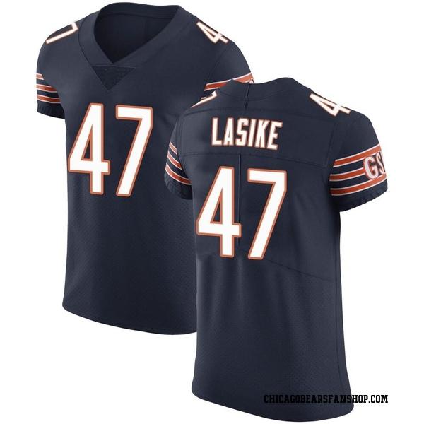 Paul Lasike Chicago Bears Elite Navy Team Color Vapor Untouchable Jersey