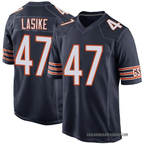Paul Lasike Chicago Bears Game Navy Team Color Jersey