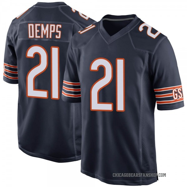 Quintin Demps Chicago Bears Game Navy Team Color Jersey