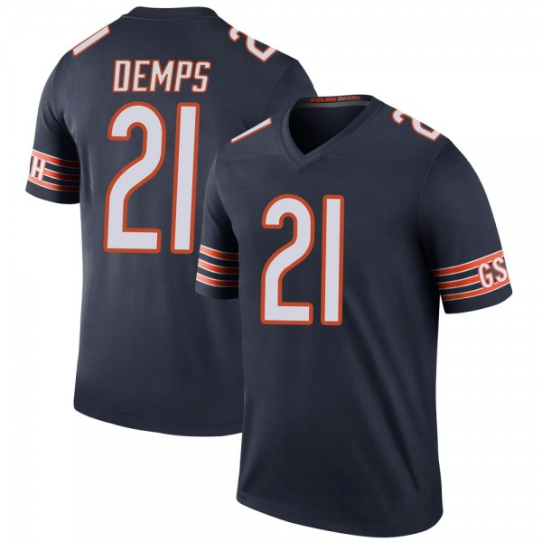 Quintin Demps Chicago Bears Legend Navy Color Rush Jersey