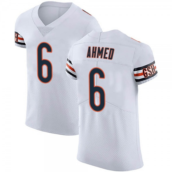 Ramiz Ahmed Chicago Bears Elite White Vapor Untouchable Jersey