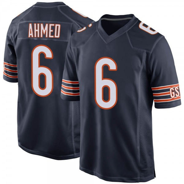 Ramiz Ahmed Chicago Bears Game Navy Team Color Jersey