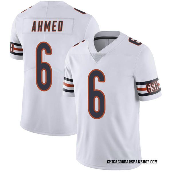 Ramiz Ahmed Chicago Bears Limited White Vapor Untouchable Jersey