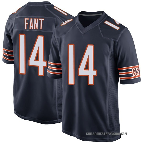Rashard Fant Chicago Bears Game Navy Team Color Jersey