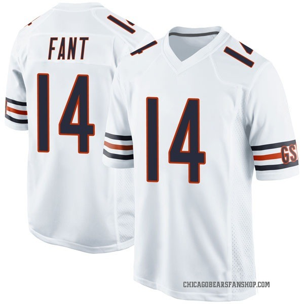 Rashard Fant Chicago Bears Game White Jersey