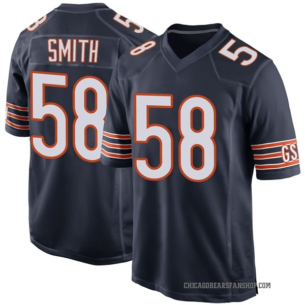 Roquan Smith Chicago Bears Game Navy Team Color Jersey