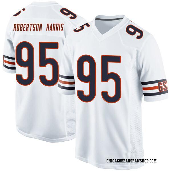 Roy Robertson-Harris Chicago Bears Game White Jersey