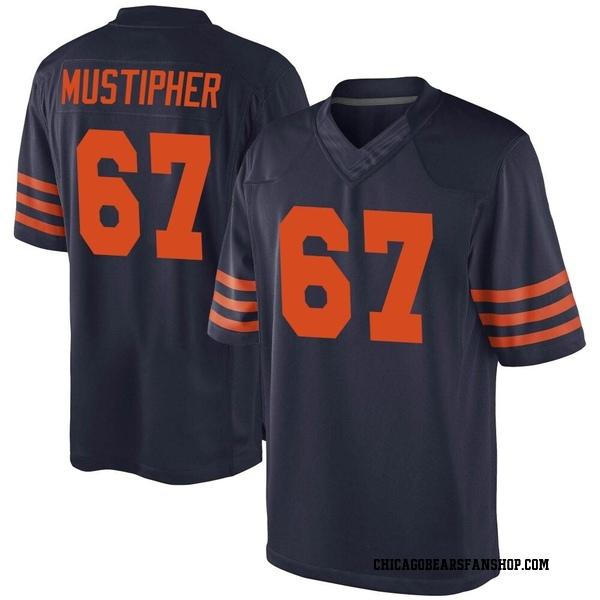 Sam Mustipher Chicago Bears Game Navy Blue Alternate Jersey