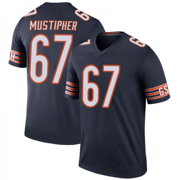 Sam Mustipher Chicago Bears Legend Navy Color Rush Jersey