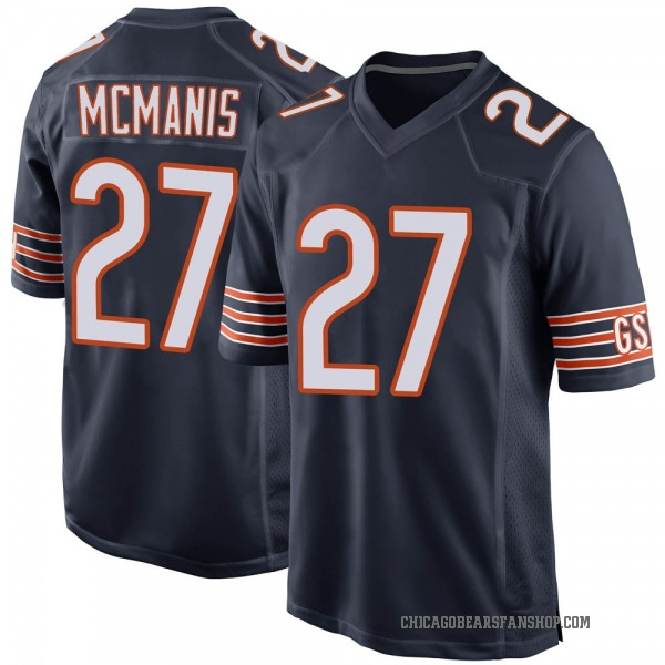 Sherrick McManis Chicago Bears Game Navy Team Color Jersey