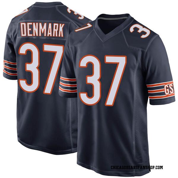 Stephen Denmark Chicago Bears Game Navy Team Color Jersey