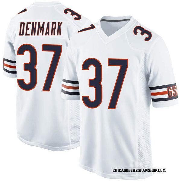 Stephen Denmark Chicago Bears Game White Jersey