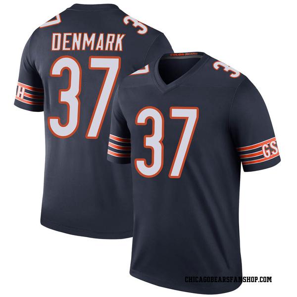 Stephen Denmark Chicago Bears Legend Navy Color Rush Jersey