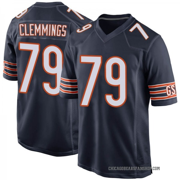 T.J. Clemmings Chicago Bears Game Navy Team Color Jersey