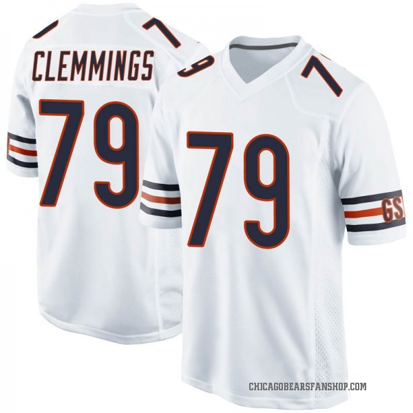 T.J. Clemmings Chicago Bears Game White Jersey