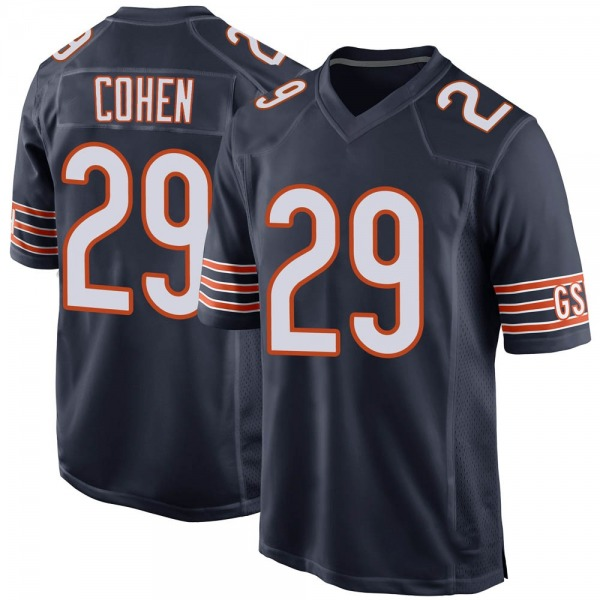 Tarik Cohen Chicago Bears Game Navy Team Color Jersey