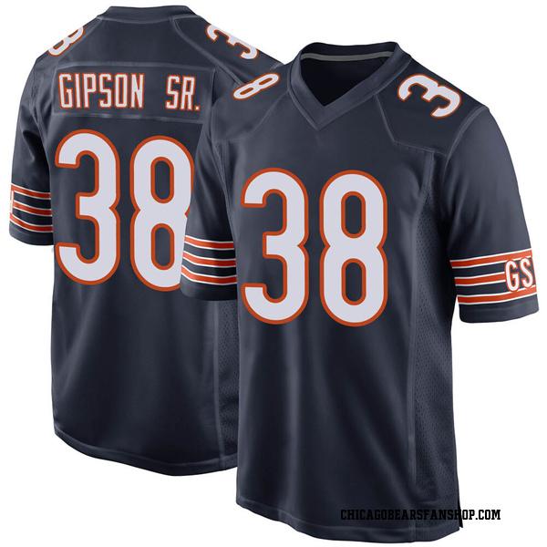 Tashaun Gipson Chicago Bears Game Navy Team Color Jersey