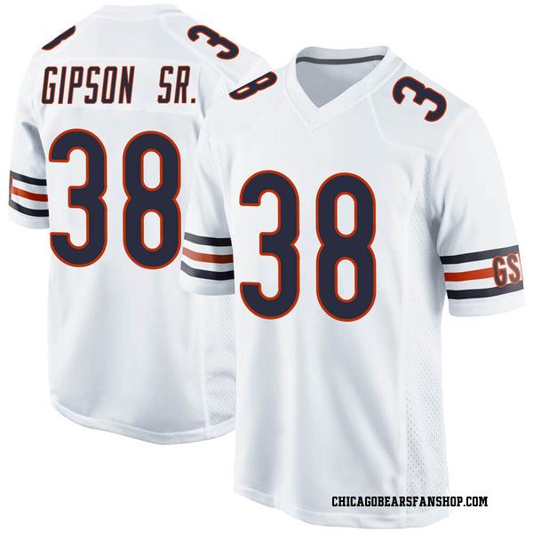Tashaun Gipson Chicago Bears Game White Jersey