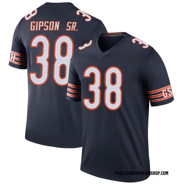 Tashaun Gipson Chicago Bears Legend Navy Color Rush Jersey