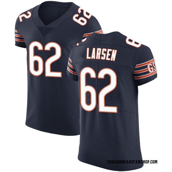 Ted Larsen Chicago Bears Elite Navy Team Color Vapor Untouchable Jersey