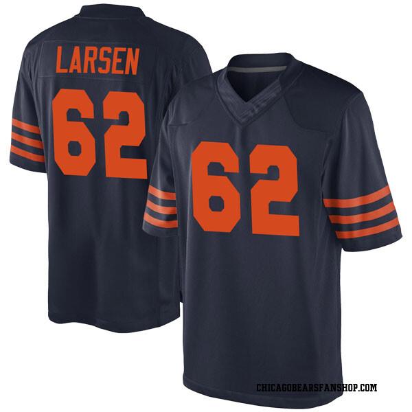 Ted Larsen Chicago Bears Game Navy Blue Alternate Jersey