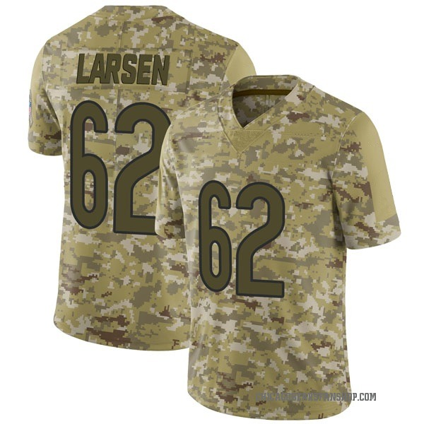 Ted Larsen Chicago Bears Limited Camo 2018 Salute to Service Jersey