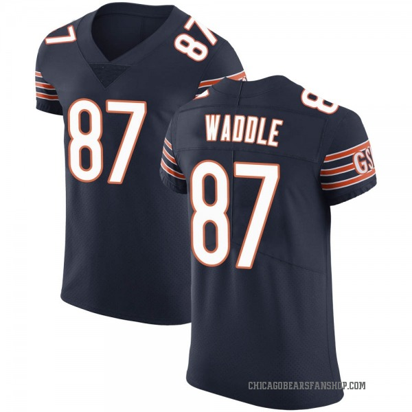Tom Waddle Chicago Bears Elite Navy Team Color Vapor Untouchable Jersey