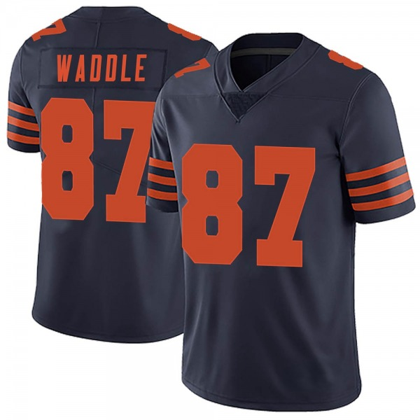 Tom Waddle Chicago Bears Limited Navy Blue Alternate Vapor Untouchable Jersey