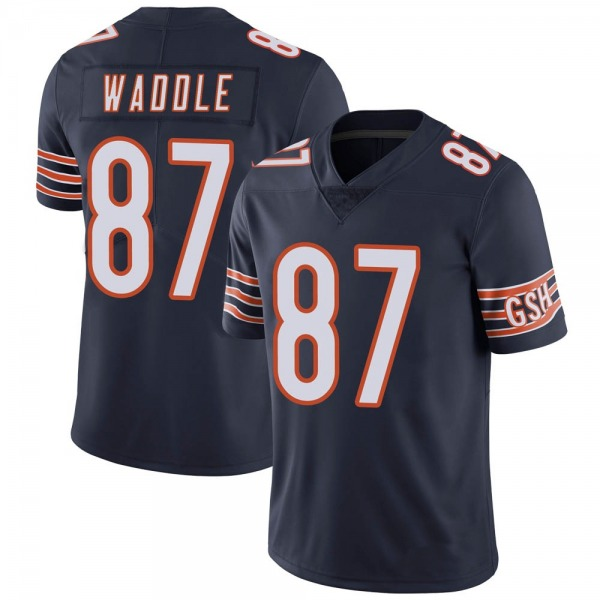 Tom Waddle Chicago Bears Limited Navy Team Color Vapor Untouchable Jersey