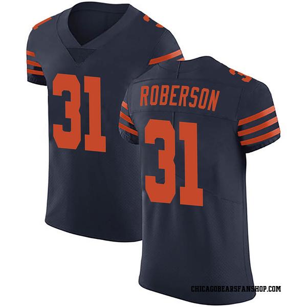Tre Roberson Chicago Bears Elite Navy Blue Alternate Vapor Untouchable Jersey