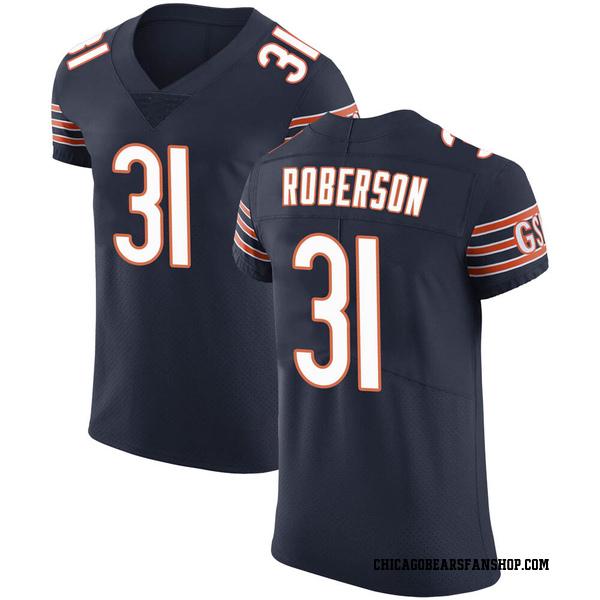 Tre Roberson Chicago Bears Elite Navy Team Color Vapor Untouchable Jersey