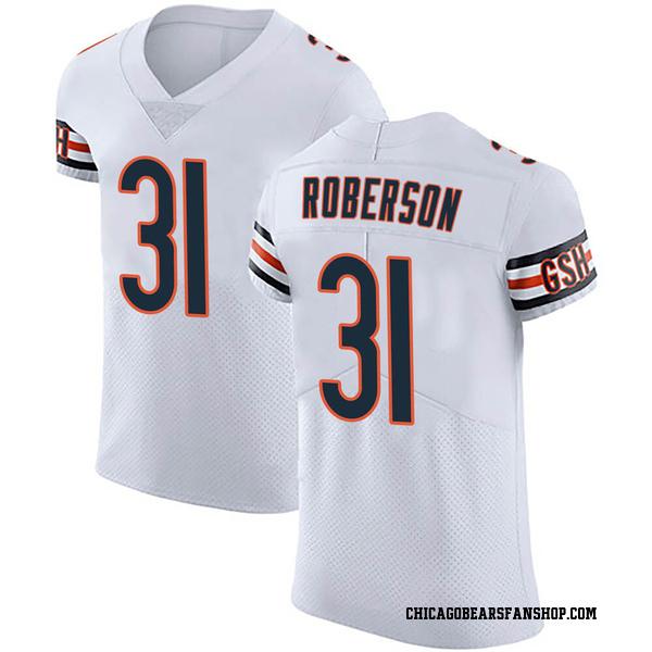 Tre Roberson Chicago Bears Elite White Vapor Untouchable Jersey