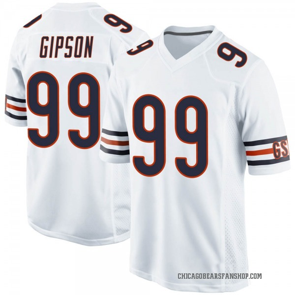 Trevis Gipson Chicago Bears Game White Jersey