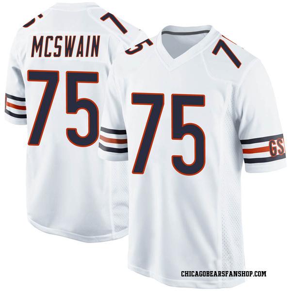 Trevon McSwain Chicago Bears Game White Jersey