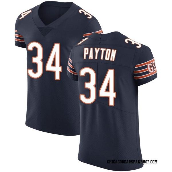 Walter Payton Chicago Bears Elite Navy Team Color Vapor Untouchable Jersey