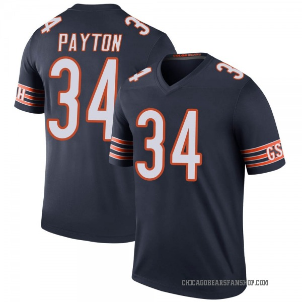 Walter Payton Chicago Bears Legend Navy Color Rush Jersey