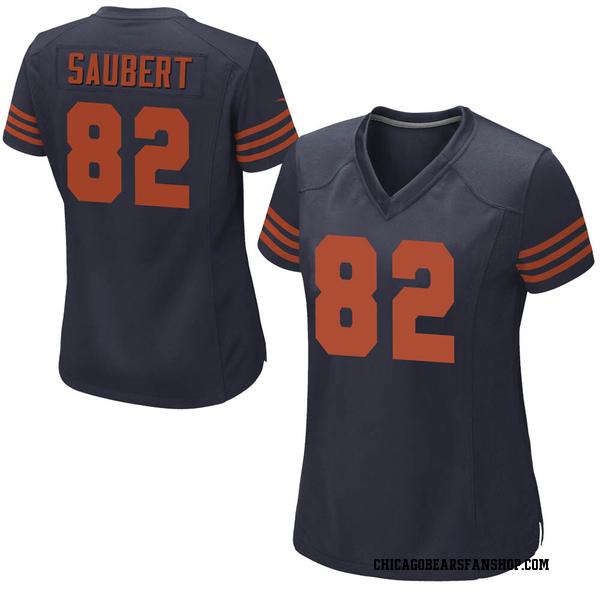 Women's Eric Saubert Chicago Bears Game Navy Blue Alternate Jersey