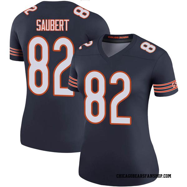 Women's Eric Saubert Chicago Bears Legend Navy Color Rush Jersey