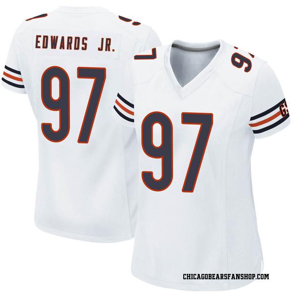 Women's Mario Edwards Jr. Chicago Bears Game White Jersey