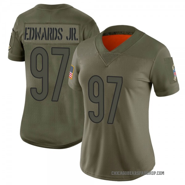 Women's Mario Edwards Jr. Chicago Bears Limited Camo 2019 Salute to Service Jersey