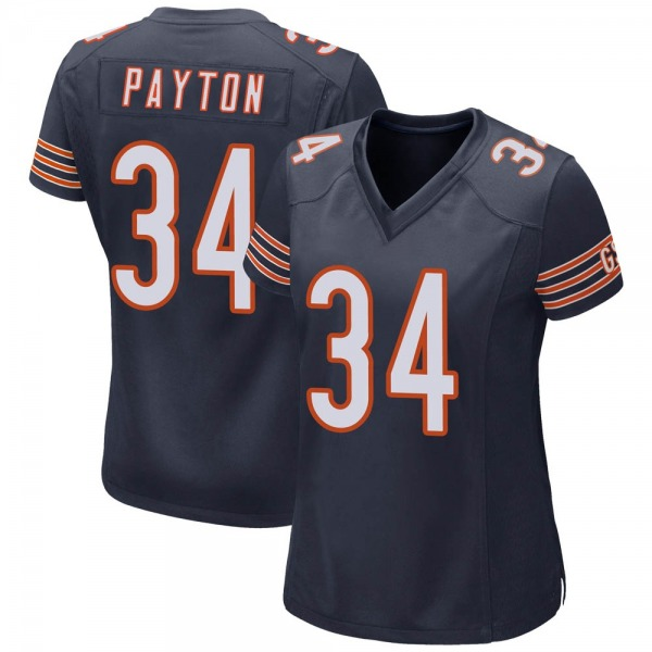 Women's Walter Payton Chicago Bears Game Navy Team Color Jersey