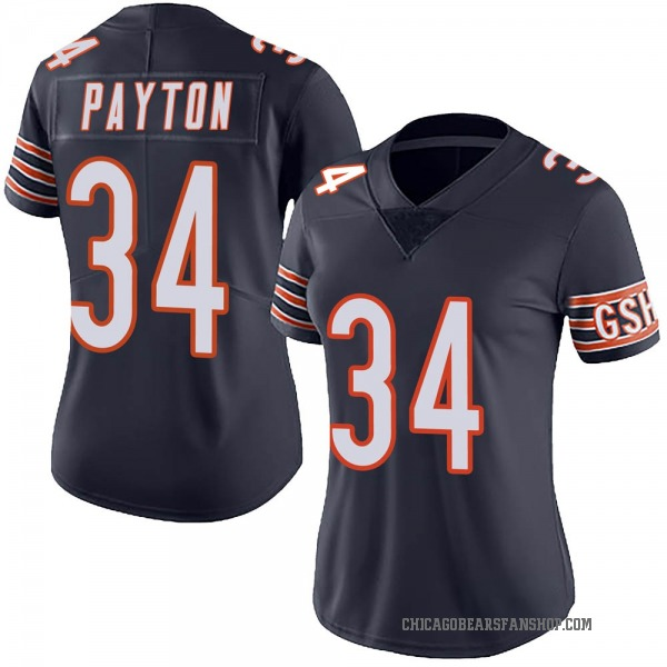 Women's Walter Payton Chicago Bears Limited Navy Team Color Vapor Untouchable Jersey