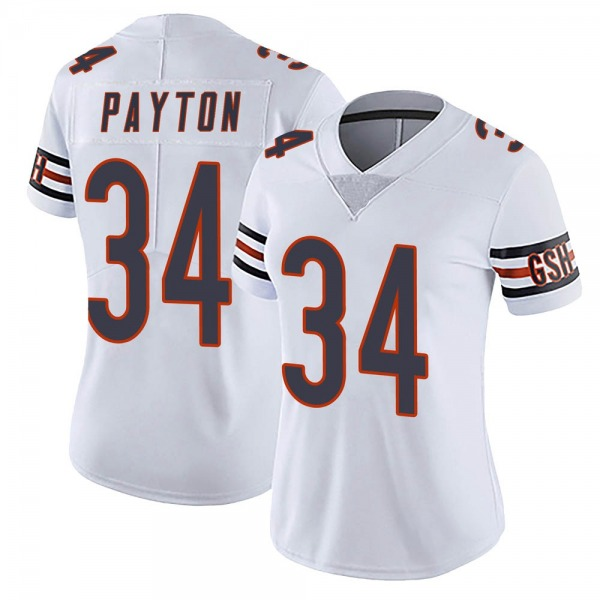 Women's Walter Payton Chicago Bears Limited White Vapor Untouchable Jersey