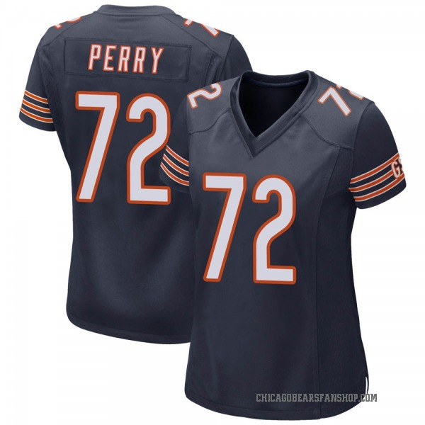 Women's William Perry Chicago Bears Game Navy Team Color Jersey