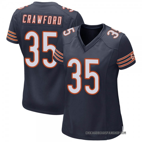 Women's Xavier Crawford Chicago Bears Game Navy Team Color Jersey